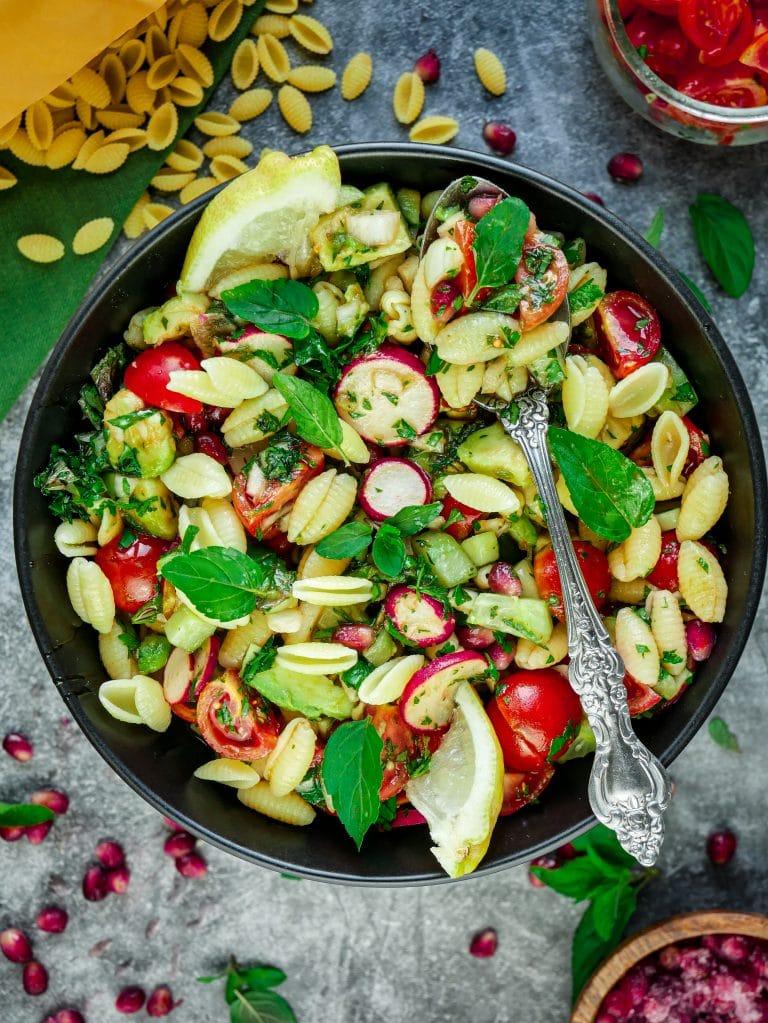 Reispasta Salat