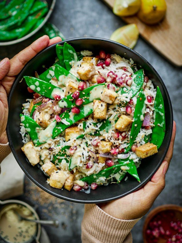 Reissalat mit Tahini Soße