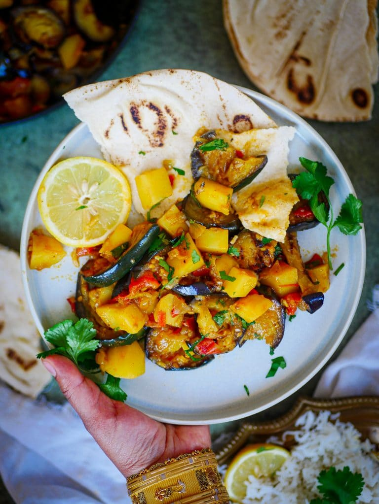 Kartoffel Aubginen Massala Vegan